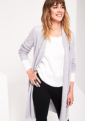 Casual long cardigan with decorative details from s.Oliver