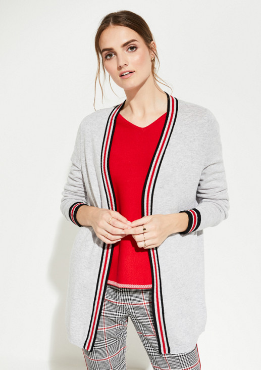 Long cardigan with sophisticated details from comma