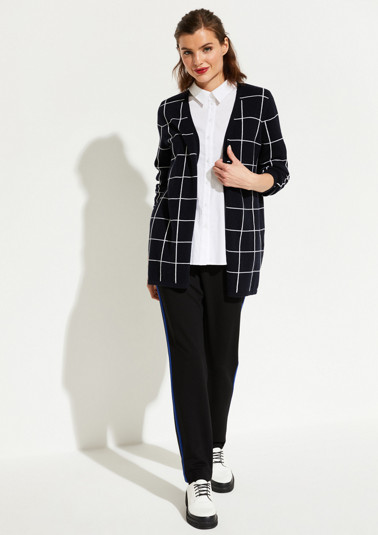 Cardigan with a check pattern from comma
