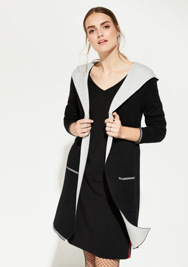 Cardigan with a large hood from comma