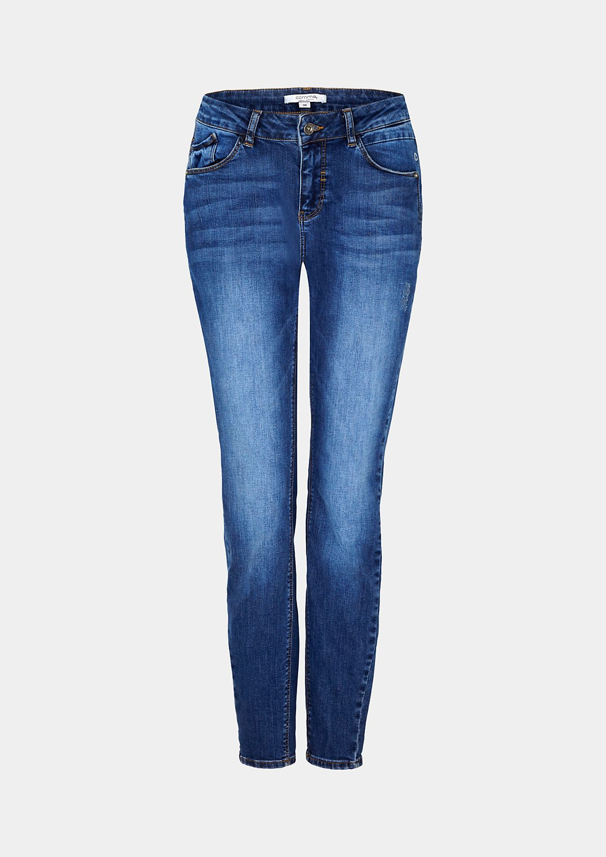 5-Pocket Jeans in Used-Optik