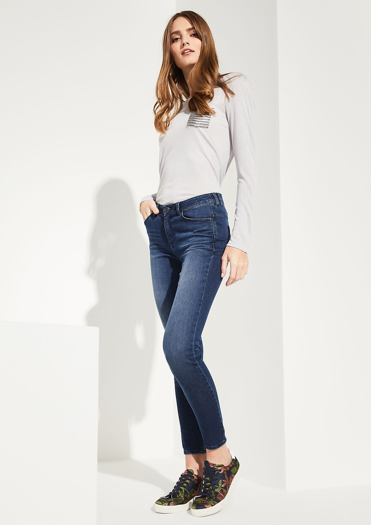 Skinny Fit: Skinny leg-Jeans aus elastischer Qualität