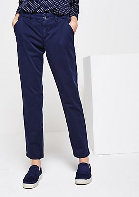Lightweight twill trousers in a vintage look from comma