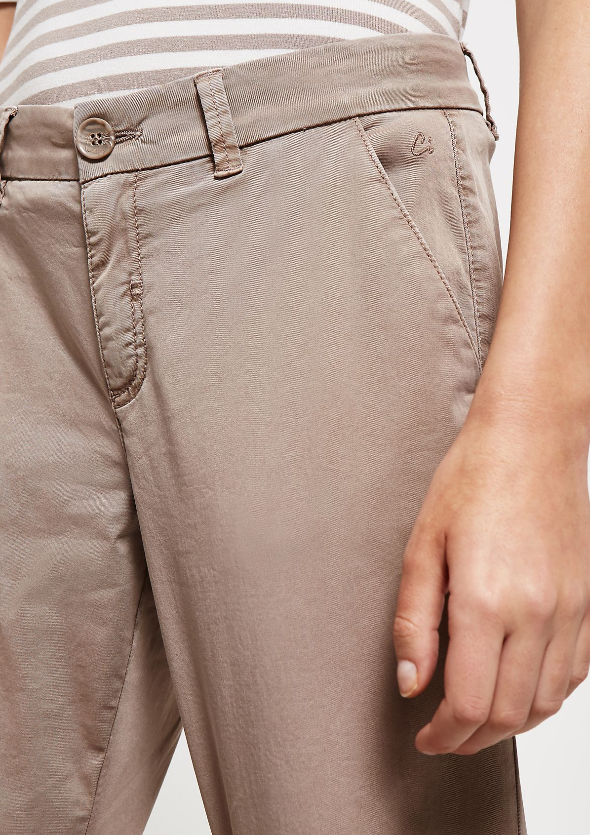 Leichte Twillpants im Used-Look