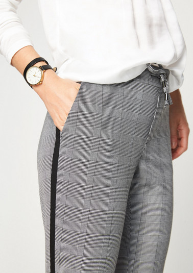 Business trousers with an elegant glencheck pattern from comma