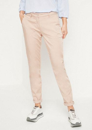 Satin trousers with a matte sheen from comma