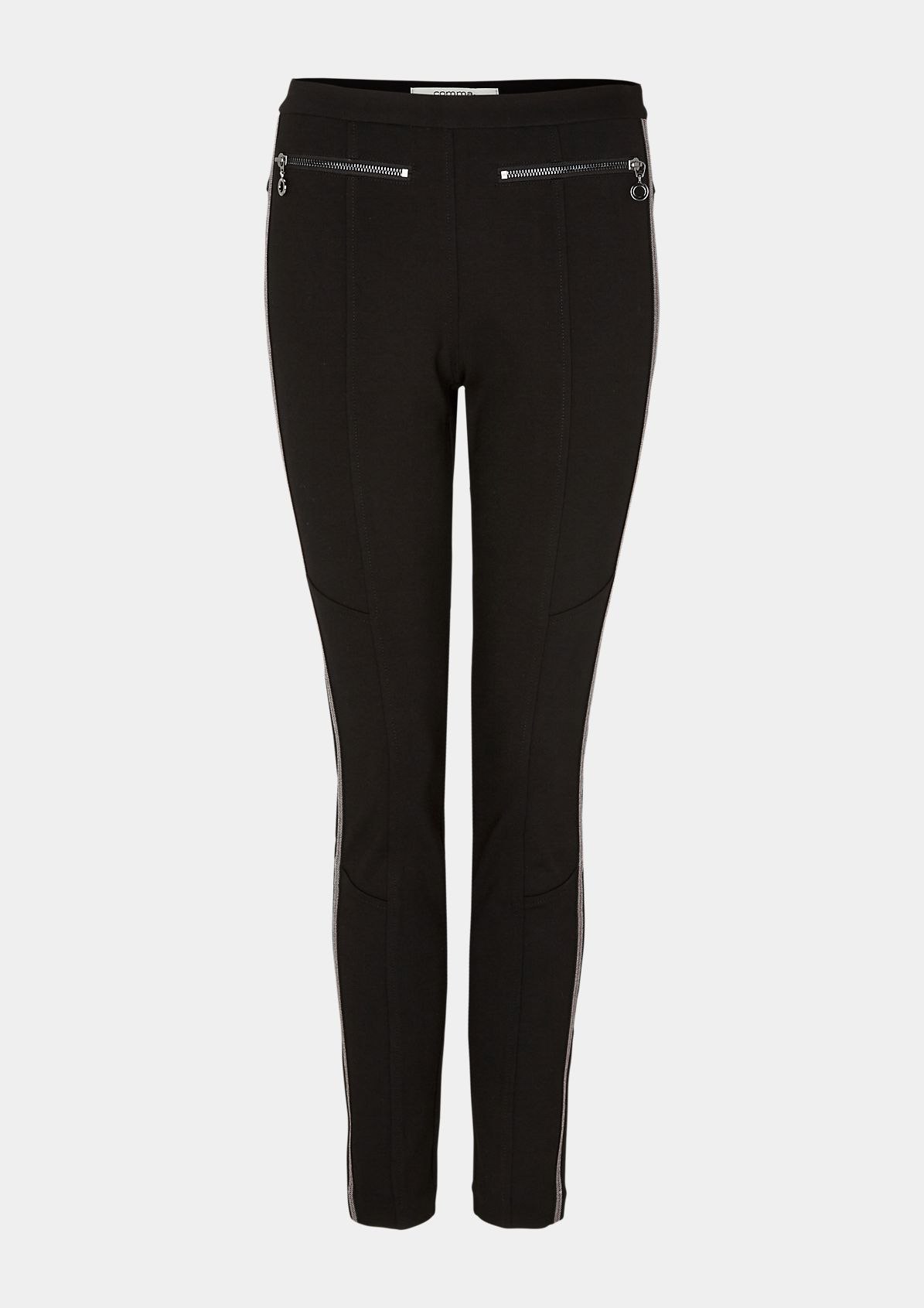 Slim fit: skinny ankle leg trousers with tape from comma