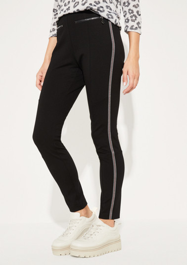 Casual trousers with side stripes from comma