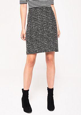 Elegant bouclé skirt from s.Oliver