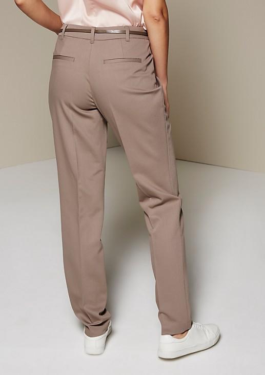 Schöne Businesspants mit raffiniertem Dobby-Muster