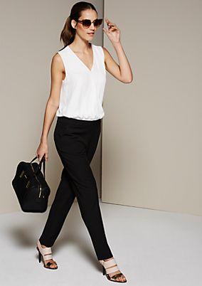 Femininer Jumpsuit im Two-Tone Look