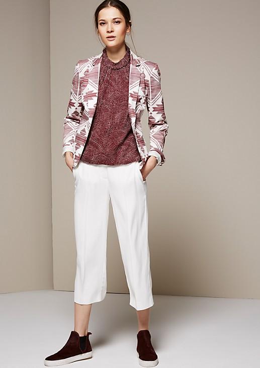 Extravaganter Blazer mit schön gestaltetem Allovermuster