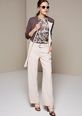 Schöne Feinstrick-Longjacke im Two-Tone Look