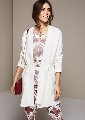 Soft long knit cardigan with beautiful details from s.Oliver