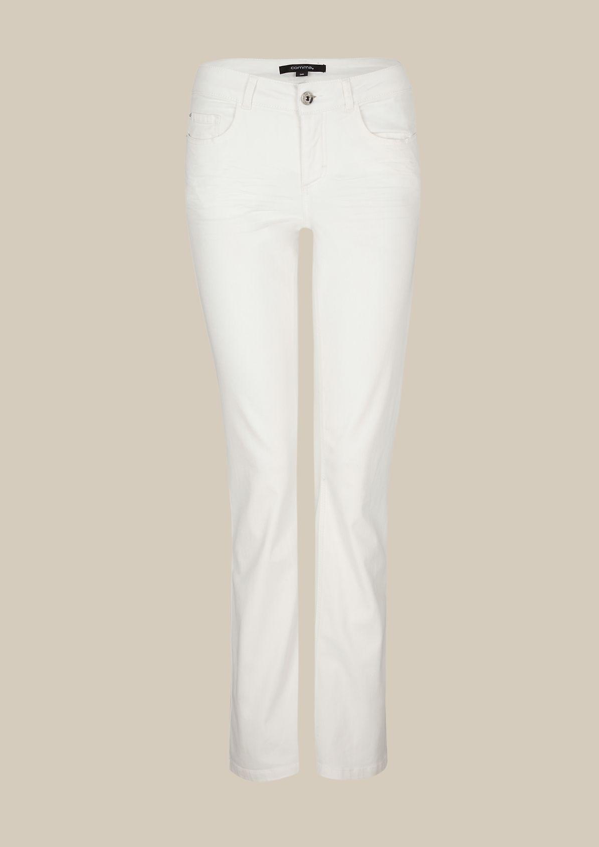 Klassische Coloured-Jeans mit geradem Schnitt