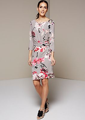 Lightweight, casual dress with a beautiful all-over print from s.Oliver