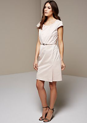Elegant satin business dress with a matte sheen from s.Oliver