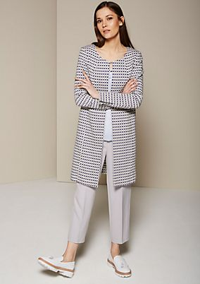 Lightweight coat with a sophisticated jacquard pattern from s.Oliver