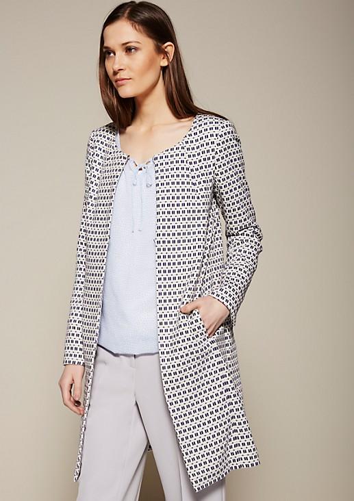 Leichter Mantel mit raffiniertem Jacquardmuster