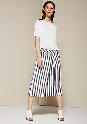 Classic culottes with sporty stripes from s.Oliver