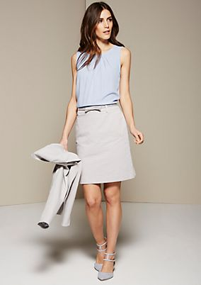 Short jacquard skirt with a narrow belt from s.Oliver