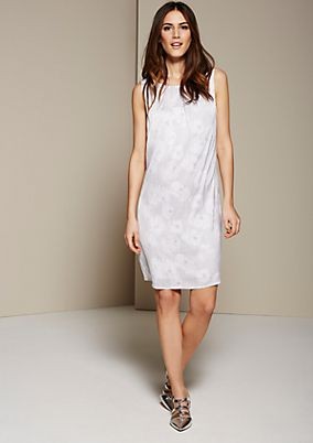 Lightweight satin dress with a great all-over pattern from s.Oliver