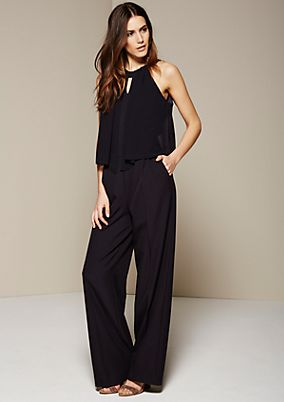 Elegant business jumpsuit with decorative details from s.Oliver