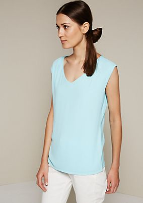 Summery jersey top in a sophisticated fabric blend from s.Oliver
