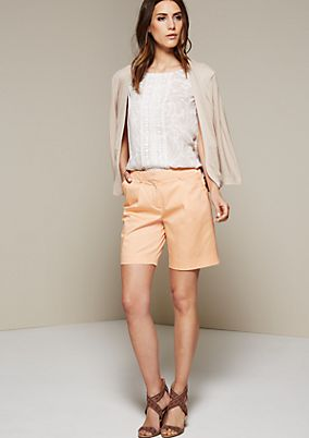 Summery satin shorts with beautiful details from s.Oliver