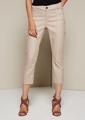 Elegant 3/4-length coloured jeans from s.Oliver