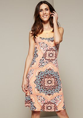 Lightweight summer dress with a beautiful all-over print from s.Oliver