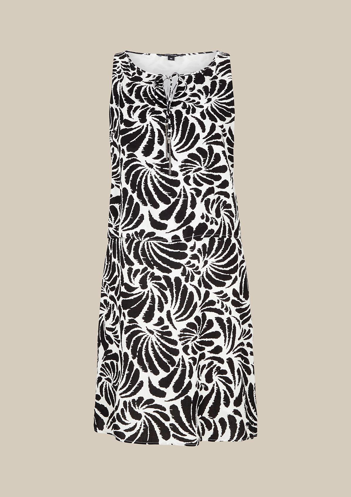 Elegantes Casualkleid mit aufwenig gestaltetem Alloverprint