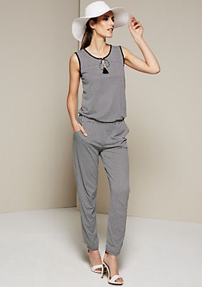 Glamorous jumpsuit with a decorative all-over pattern from s.Oliver