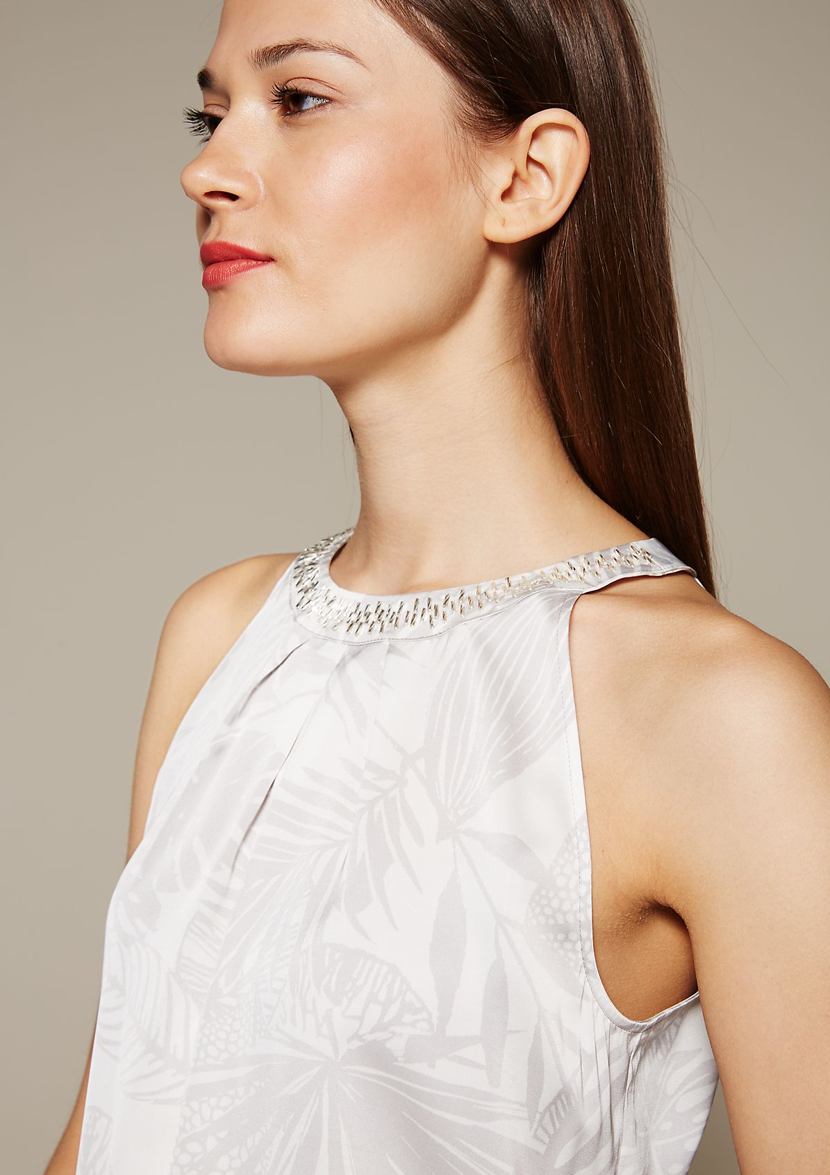 Extravagant satin top with a sophisticated all-over print from s.Oliver