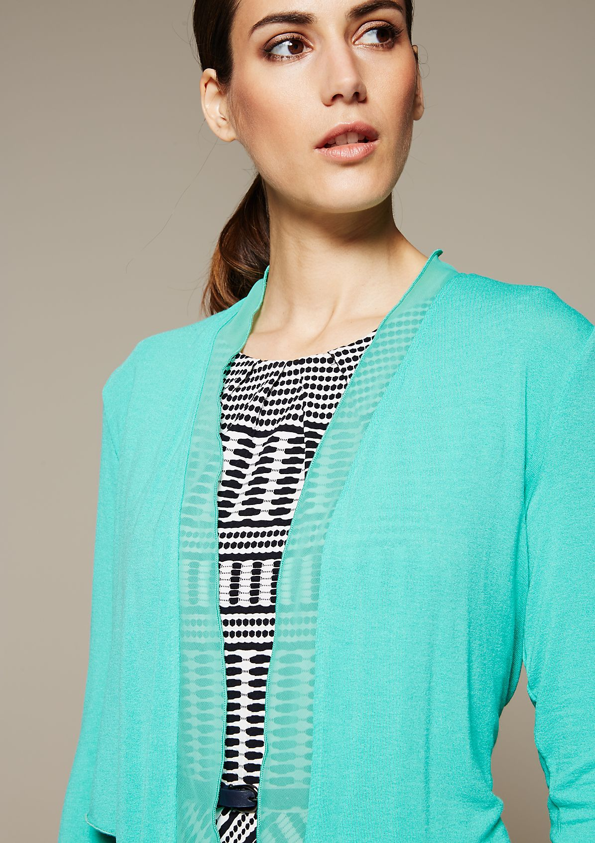 Breezy summer bolero with decorative details from s.Oliver