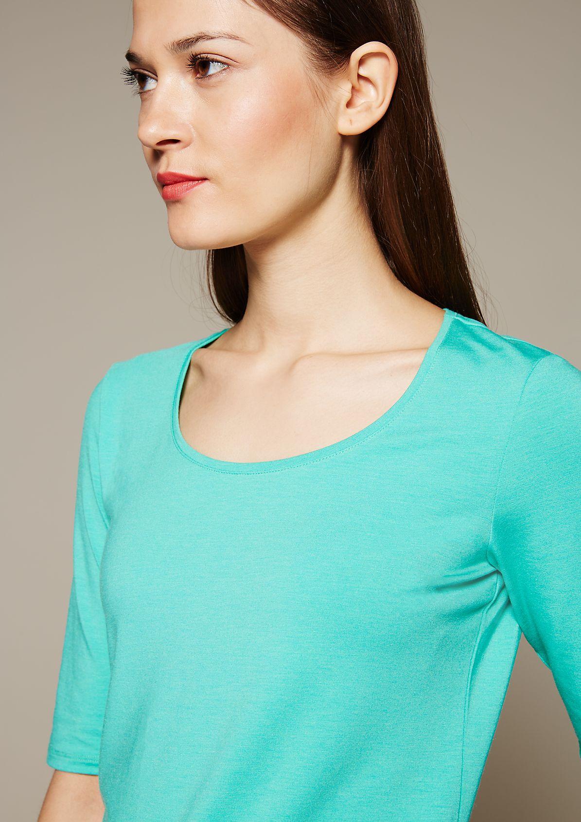 Klassisches Jerseyshirt mit 1/2-Ärmeln