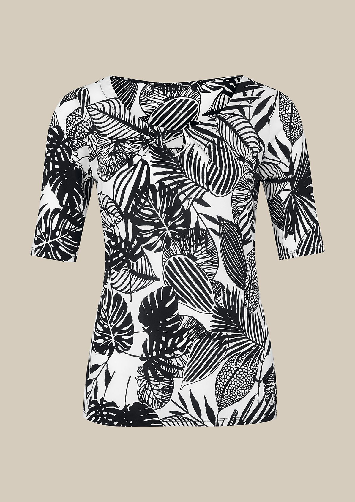 Smart short sleeve top with an elaborate all-over print from s.Oliver