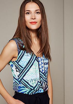 Smartes Top mit farbenfrohem Muster
