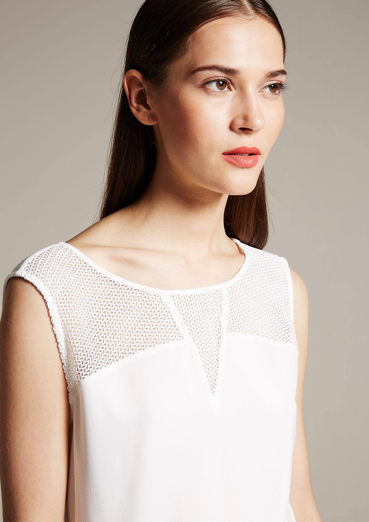Lovely top with a finely finished openwork pattern from s.Oliver