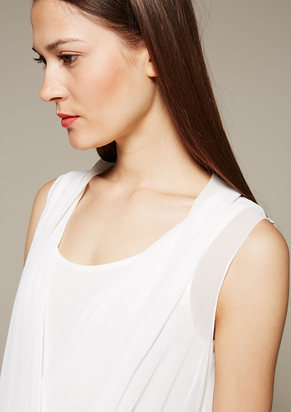 Delicate chiffon top with beautiful details from s.Oliver