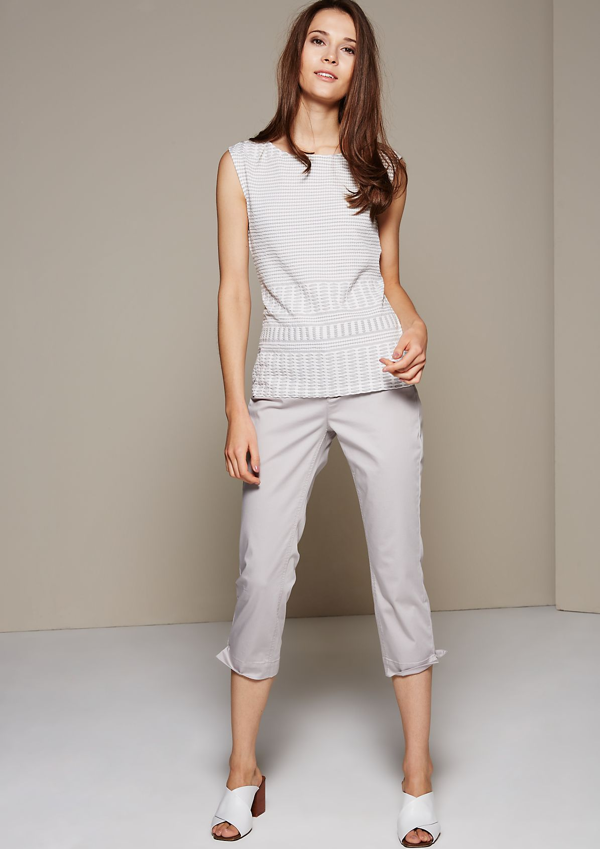 Summer top with a sophisticated textured pattern from s.Oliver