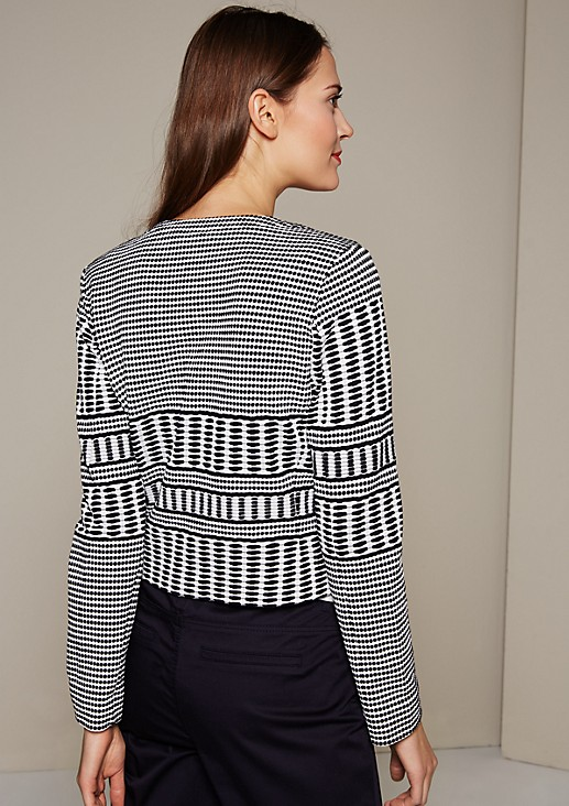 Elegant blazer with an all-over graphic pattern from s.Oliver