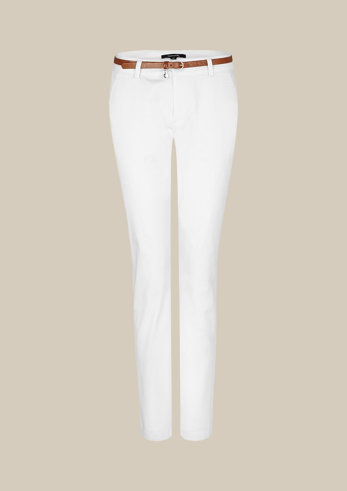 Feminine satin chinos with sophisticated details from s.Oliver