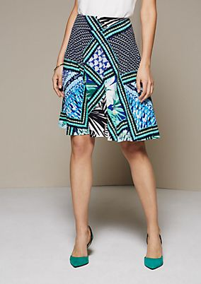 Sporty summer skirt with an attractive all-over print from s.Oliver