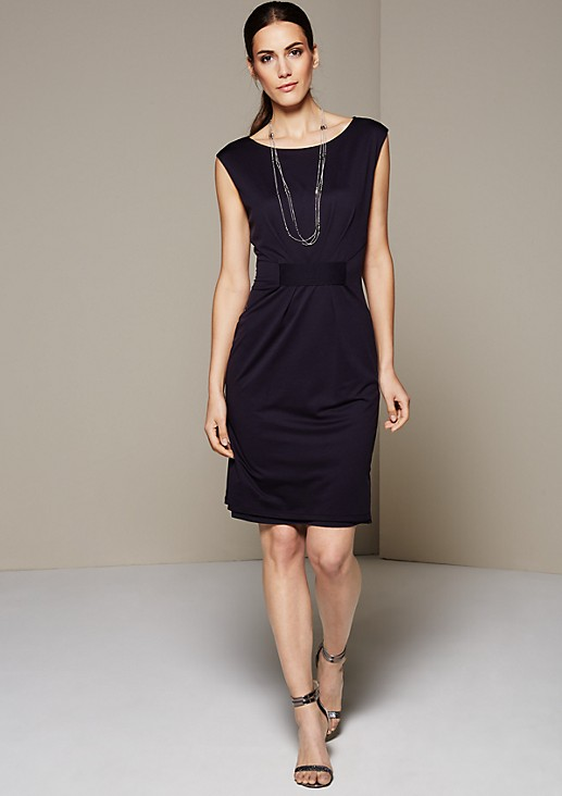 Casual jersey dress with pretty details from s.Oliver