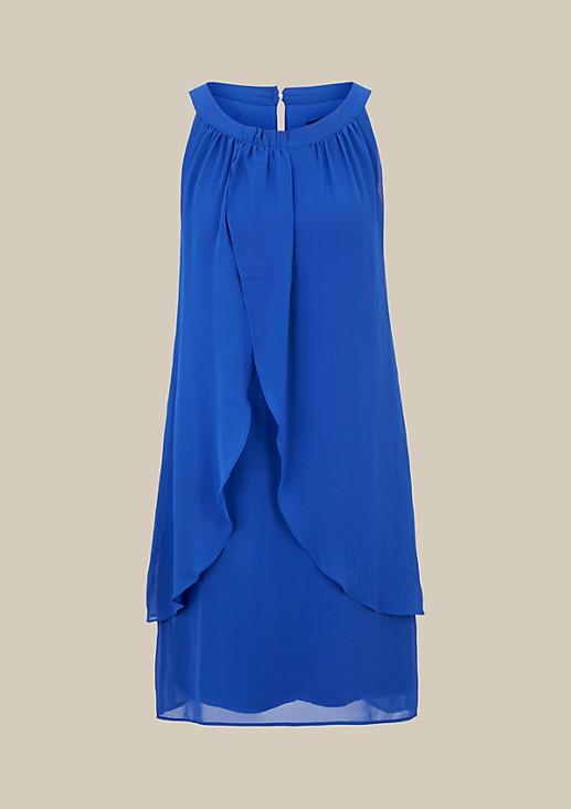 Hauchzartes Kreppkleid mit glamourösen Details