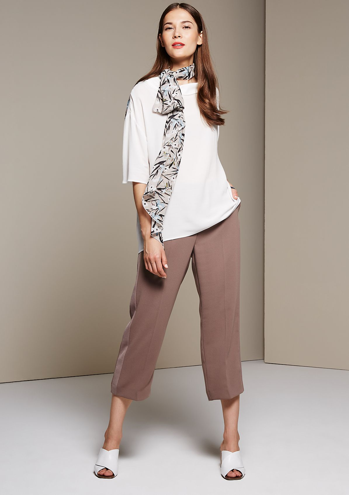 Glamorous short sleeve blouse with sophisticated details from s.Oliver