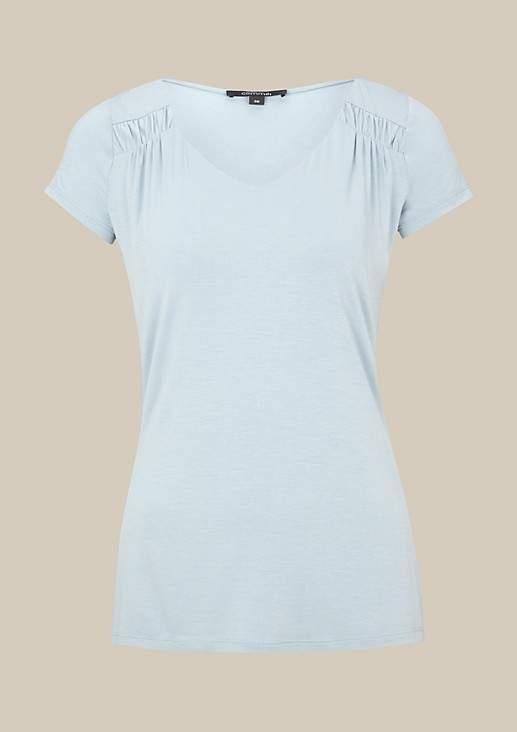 Pretty short sleeve top with decorative gathers from s.Oliver