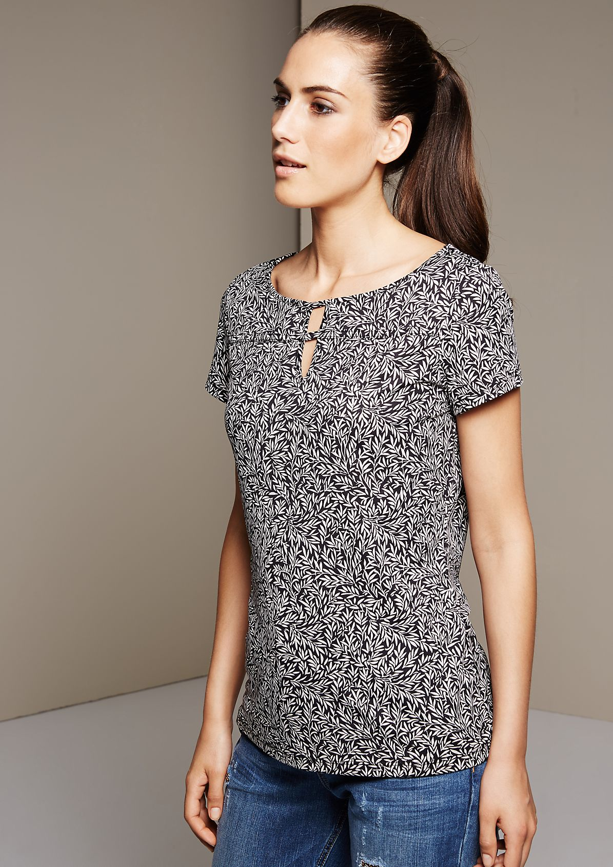 Soft jersey top with a decorative all-over print from s.Oliver
