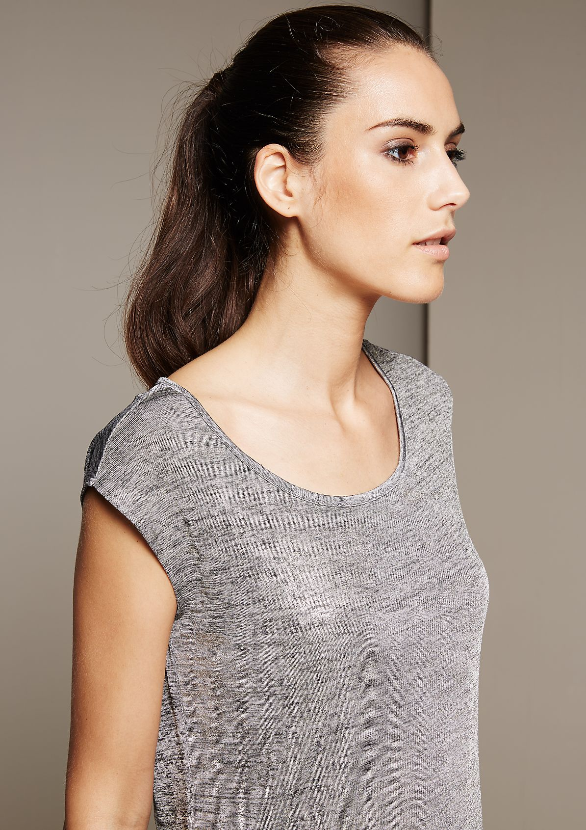 Glamorous top with a sophisticated coating from s.Oliver